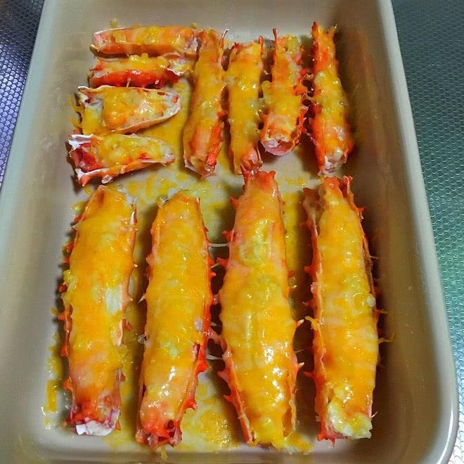 蒜泥芝士焗蟹腿的最新吃法,真的是百吃不厌