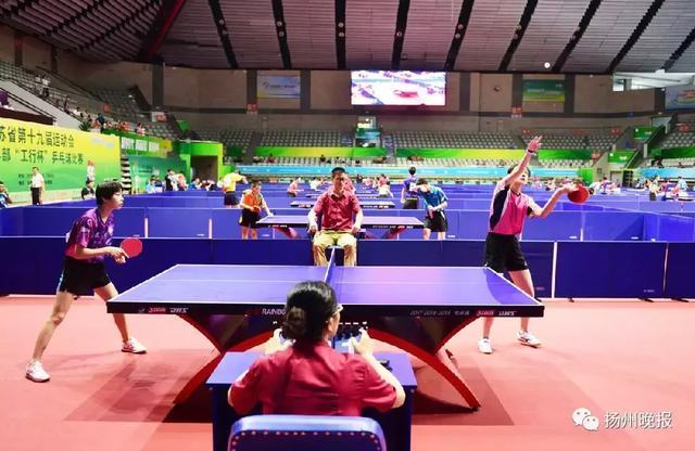 省运会青少年部乒乓球比赛,扬州队14名小