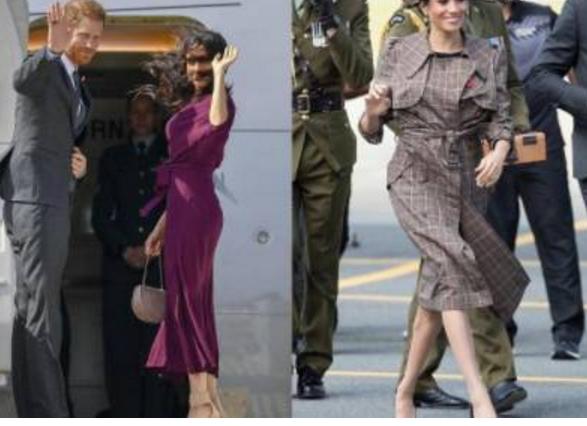 梅根身怀六甲秀腰身,凯特显复古,而她视线往下移让人不淡定!