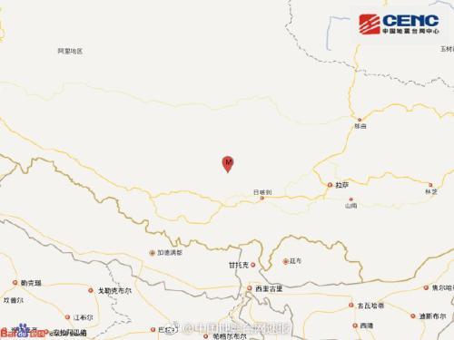 西藏日喀则谢通门县发生5.0级地震 震源深度10千米