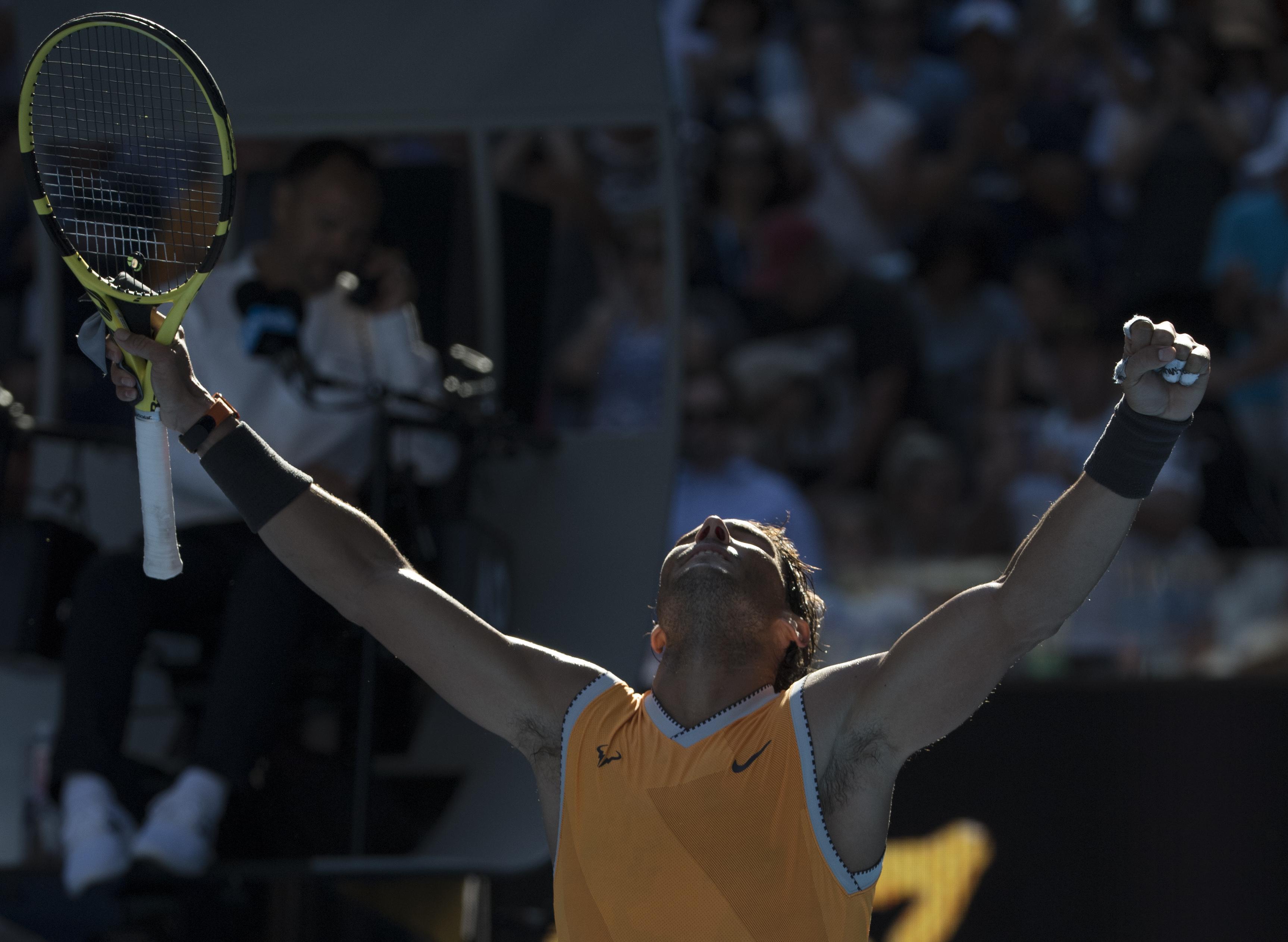 澳网:纳达尔晋级八强