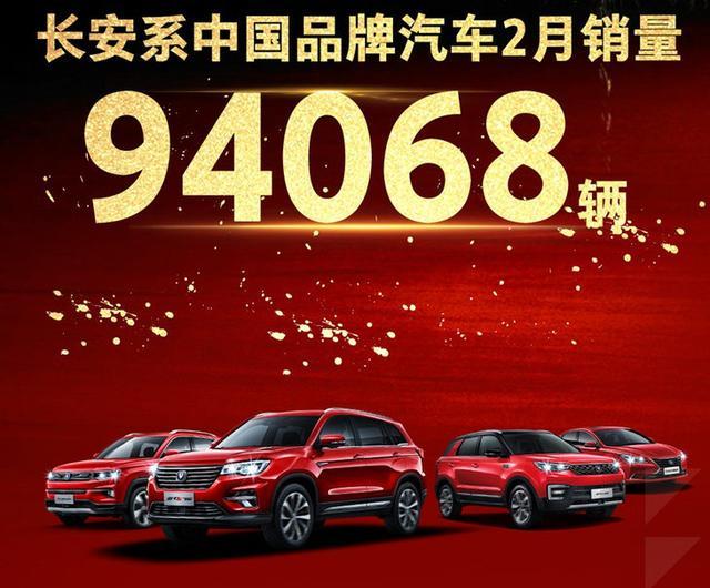 长安系品牌2月销量出炉 3款SUV破万/新能源系列暴涨