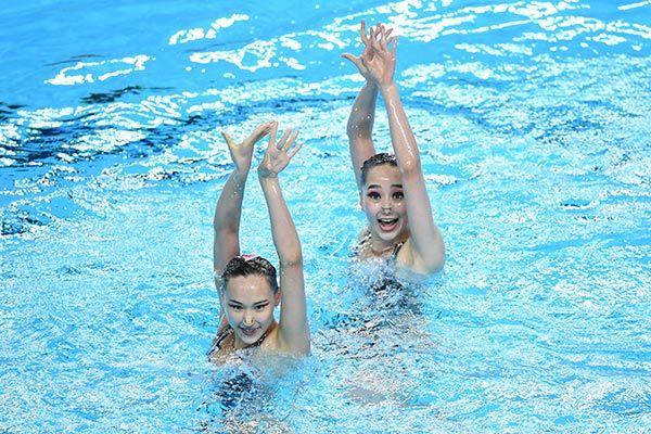 2019年全国花样游泳冠军赛:双人自由自