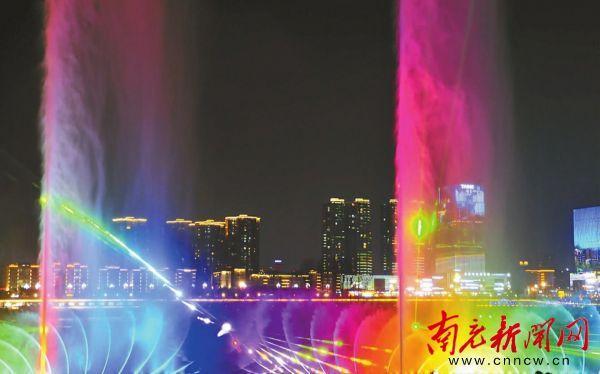 不见不散!每周五周六晚江东音乐喷泉等你来