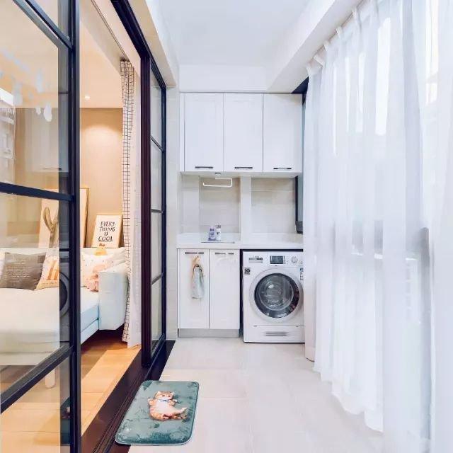 都知道在阳台装洗衣柜,但这些装