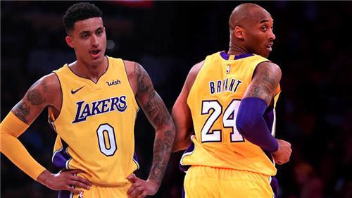 <b>加入NBA的前两年,库兹马和科比谁看厉害?差距一目了然</b>