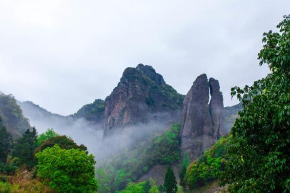 游人游览雁荡山,可欣赏到这些,如诗如画的美景