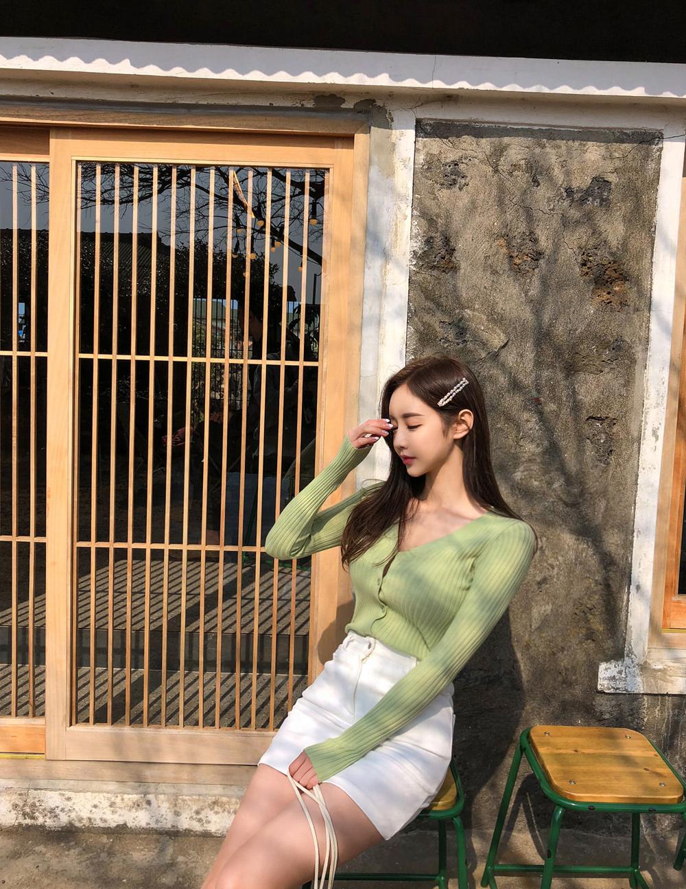 珠珠回农村体验生活!孙允珠性感草绿色上衣,回农村是相亲的吗?