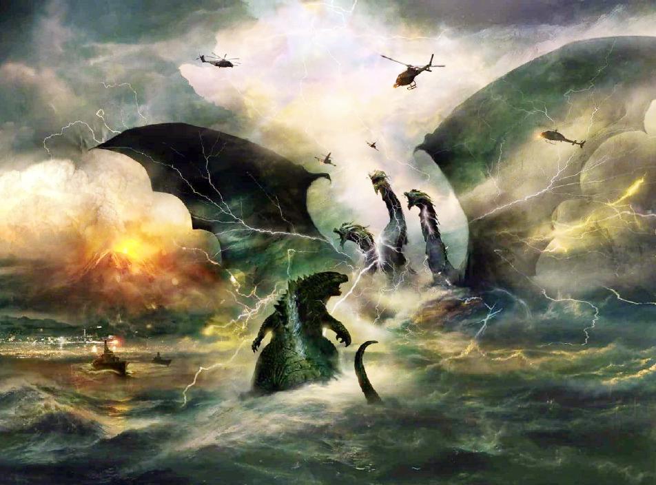 《哥斯拉2》怪兽新纪元开始,海洋生物陨落,基多拉落入敌手