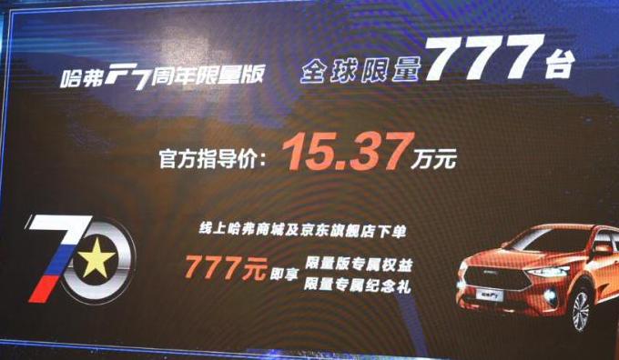 """为纪念中俄建交70周年,长城推出""""70周年限量版哈弗F7"""",真漂亮"""
