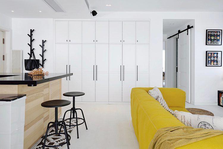 蓬莱装修:一幢65平方米的小房子,可以如此舒适和宽敞 蓬莱装修公司 蓬莱装修效果图 蓬莱鹤立装修 第6张