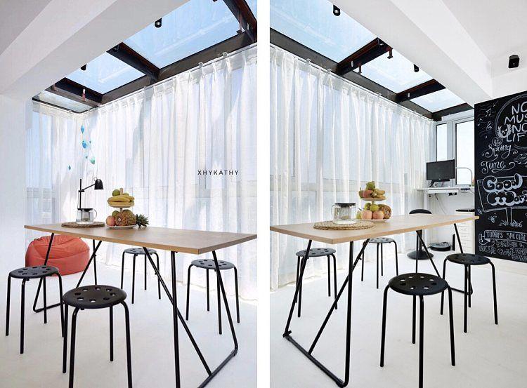 蓬莱装修:一幢65平方米的小房子,可以如此舒适和宽敞 蓬莱装修公司 蓬莱装修效果图 蓬莱鹤立装修 第19张