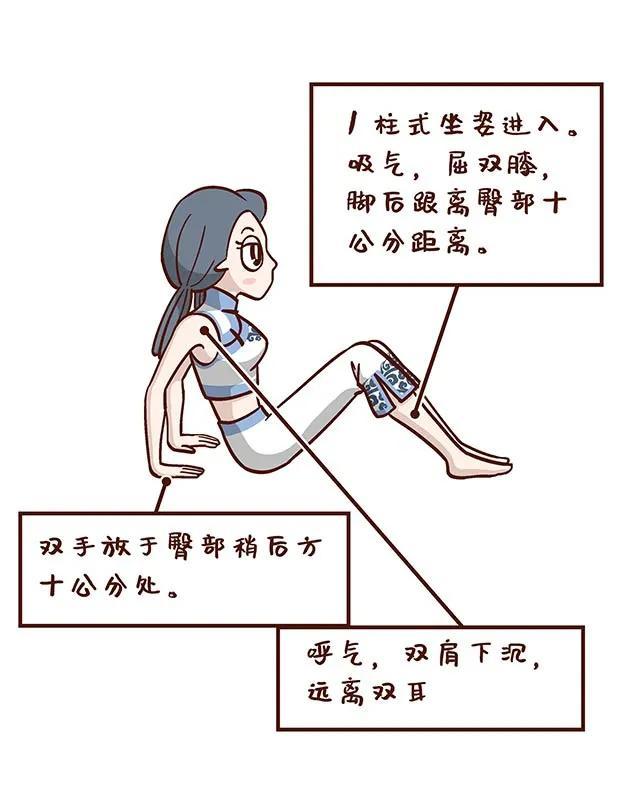 瑜伽桌子式,美化臀腿线条,增强肩背力量,值得一练