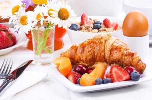美味的早餐食物高清图片