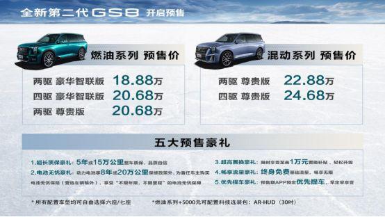 预售18.88万元起,全新第二代GS8全面进化而来318.png
