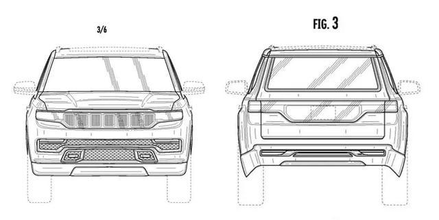 Jeep大瓦格尼專利圖曝光 前臉貫穿式LED燈帶取消